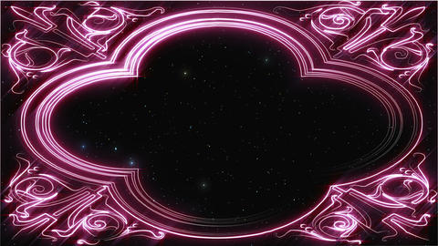 [Loop]Pink line art background material Animation