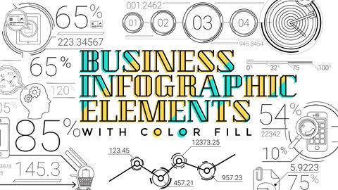 30 Line Infographic Elements After Effects Template