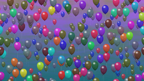 Party balloons generated seamless loop video Animation