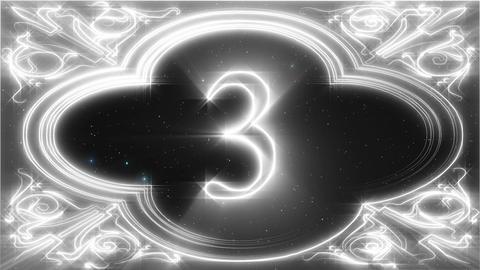 [Countdown]White line art countdown Animation