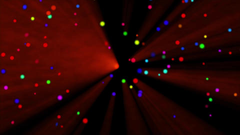 Colorful dot rotating light Red, CG動画素材
