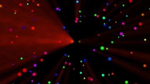 Colorful dot rotating light Red CG動画