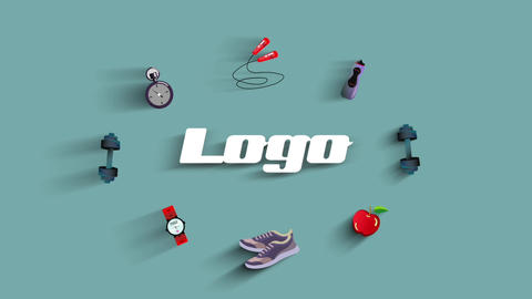 Gym Fitness Logo Apple Motion Template