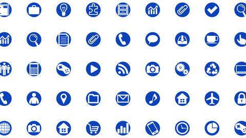 Technology Icon Network Symbol Digital devices on Internet G1 B-S icon white a Animation