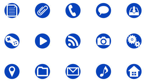 Technology Icon Network Symbol Digital devices on Internet G1 C-L icon white a Animation