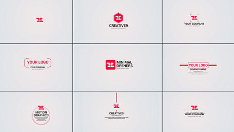 10 Clean Logo Opener Pack After Effects Template