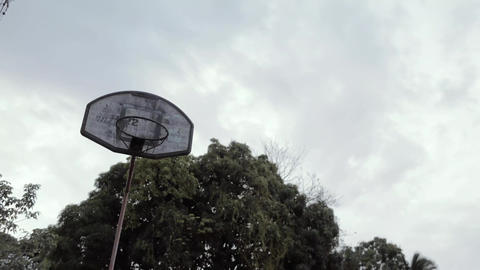 Basketball hoop in low angle photography Live Action