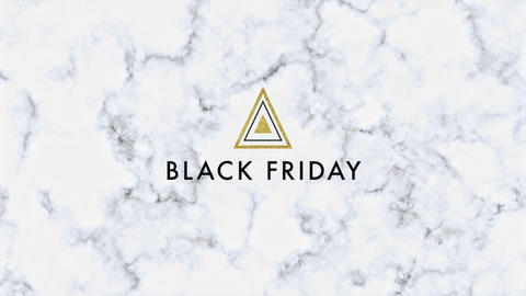 Animation intro text Black Friday on marble fashion and minimalism background with geometric Animation