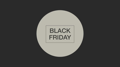 Animation intro text Black Friday on black fashion and minimalism background with geometric circle Animation