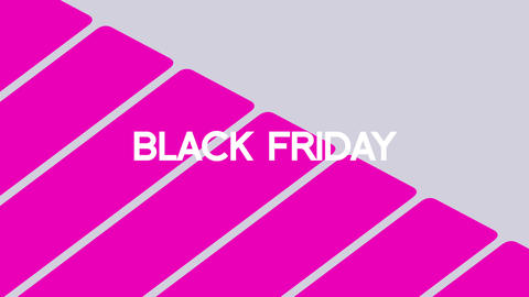 Animation intro text Black Friday on pink fashion and minimalism background with geometric lines Animation