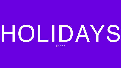 Animation intro text Happy Holidays on fashion and minimalism background Animation