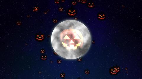 Halloween CG pumpkin moon Animation