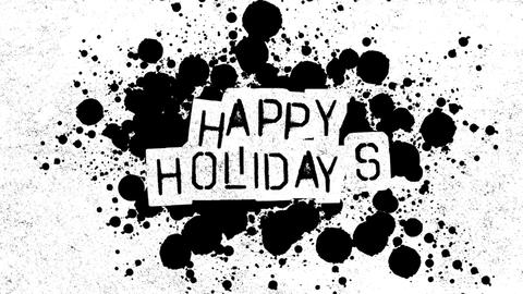 Animation intro text Happy Holidays on fashion and brush background Animation