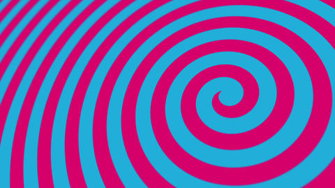 Hypnotic Blue and Pink Circus Spiral Motion Background Animation