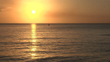 Sunset Over The Gulf Of Mexico stock footage