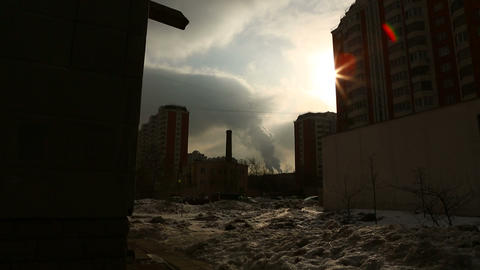 urban scene 03 Stock Video Footage