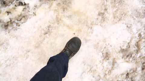 winter step 02 Footage