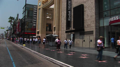 Tourists visit the Hollywood Walk of Fame Footage