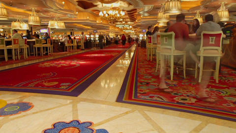A time lapse of a casino lobby in Las Vegas Stock Video Footage