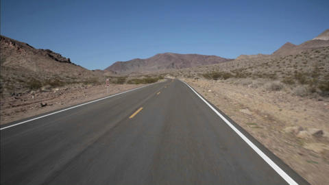 A highway runs through the desert Stock Video Footage