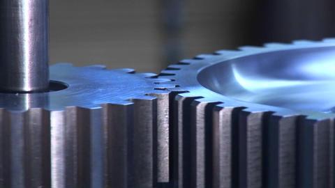 Gears interlock and turn Stock Video Footage