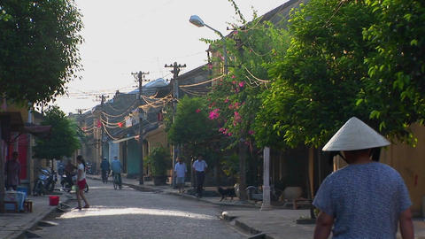 A small street in a rural village in Vietnam Stock Video Footage