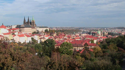 An overview of Prague, Czech Republic Footage