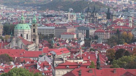 An overview of Prague, Czech Republic Footage