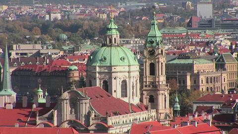 A view over Prague, Czech Republic Footage