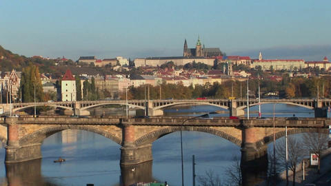 A view of Prague in the Czech Republic Footage