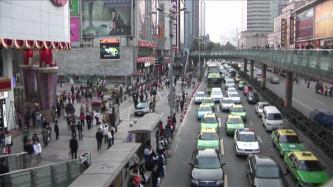 Time Lapse shot of modern traffic in China Stock Video Footage