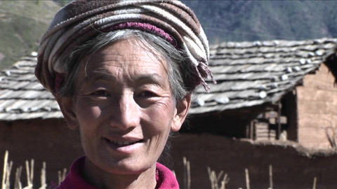 A smile tribal person smiles at camera Stock Video Footage