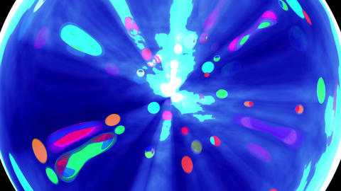 Colorful mirror ball Animation