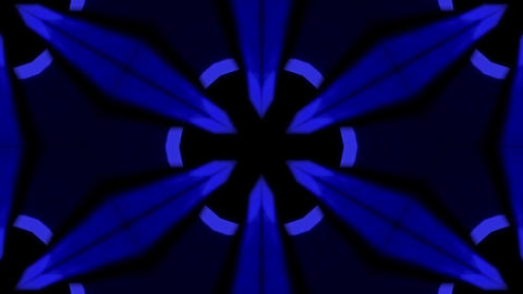 Background CG Floral Pattern Blue Animation