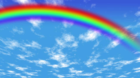 Clouds and rainbows Animation