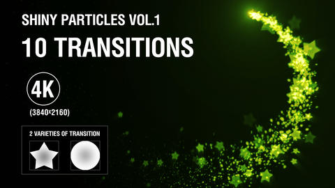 10-in-1 (4K) Shiny Particles Transition vol.1 - magic Animation