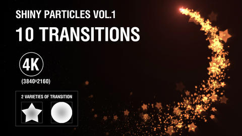 10-in-1 (4K) Shiny Particles Transition vol.1 - gold CG動画素材