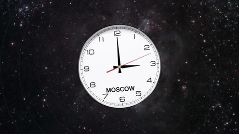 World Clock Time Zone Animación