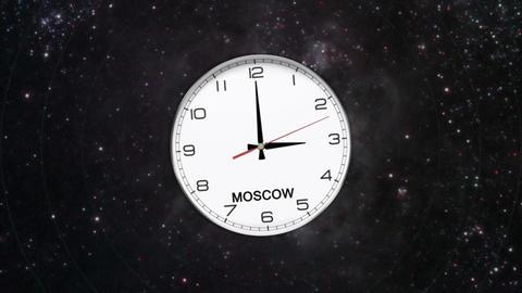 World Clock Time Zone CG動画素材