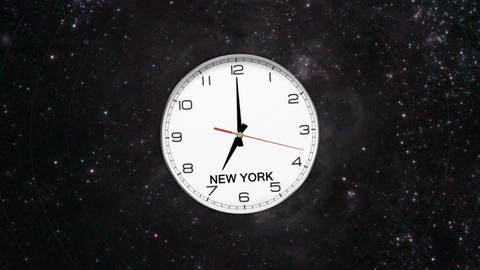 World Clock Time Zone Stock Video Footage