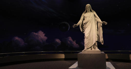 Christus Statue Jesus Christ LDS Church DCI 4K 550 Footage