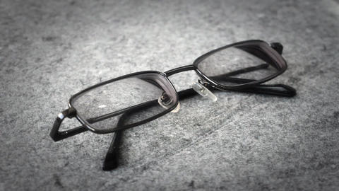 Men's glasses with a thin rim Footage