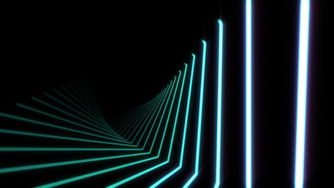 Glowing Blue Neon Light Beams Motion Background Animation