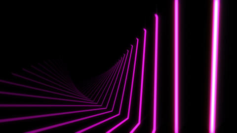 Pink Neon Light Beams Motion Background Animation