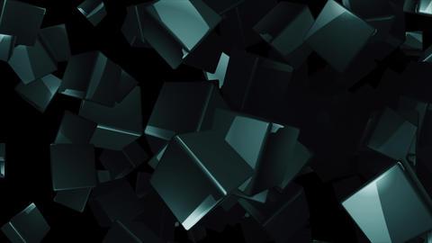 4K Dark Spinning Cubes Technology Background Animation Animation