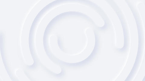 Minimalist Clean White Circles Background Animation