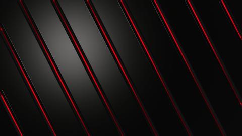 Dark Metal Glowing Red Diagonal Lines Background Animation