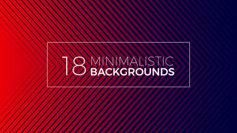 18 Minimalistic backgrounds After Effects Template