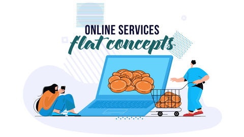 Online services - Flat Concept After Effects Template