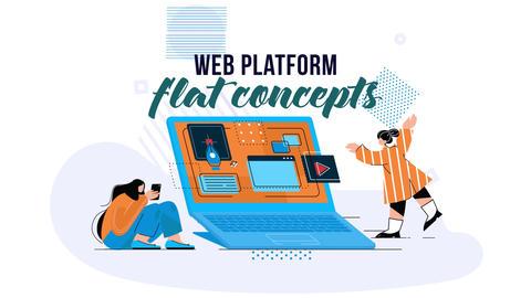 Web platform - Flat Concept After Effects Template
